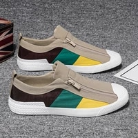 mens shoes summer breathable canvas shoes male korean version of platform trend of students wild slip on casual sneakers shoes