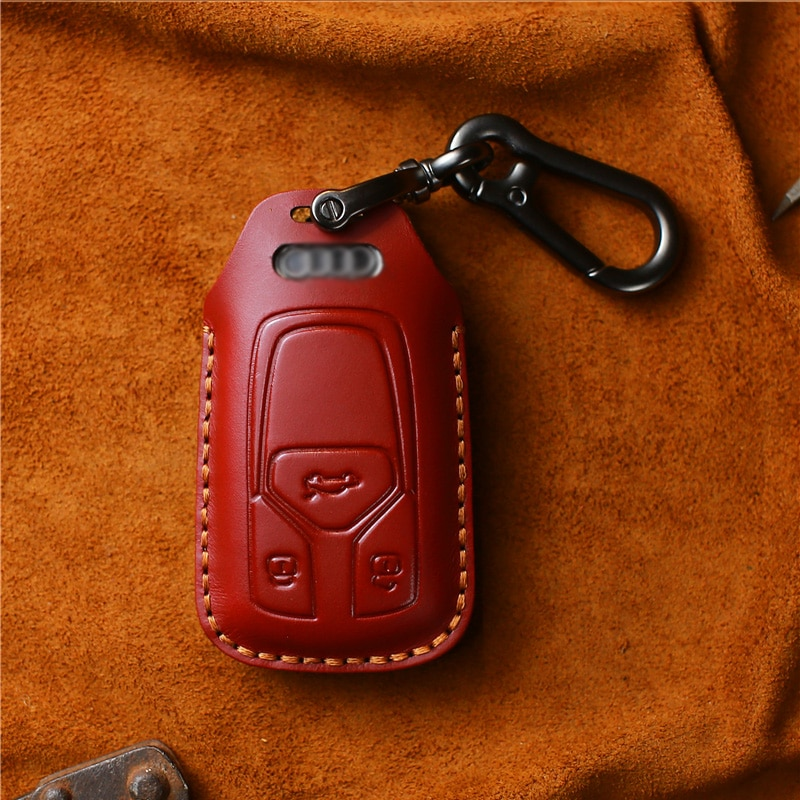 key case carbon fiber leather key chain case for bmw audi mercedes vw opel toyota mazda nissan volvo lexus ford case cover key EASYANT Leather Key Cover Case Bag Keyless Fit for Audi Car Key Case A4A5A6 Leather Key Cover