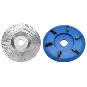 2Pcs Wood Grinding Wheel Angle Grinder Disc Wood Carving Sanding Tool&Six Teeth Wood Carving 90mm Bore Angle Grinder Attachment