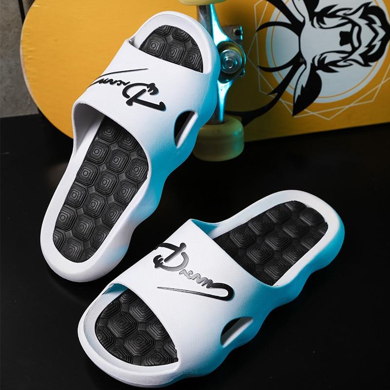 Zapatos de interior para hombre, sandalias suaves de EVA, antideslizantes, Mute, zapatillas...