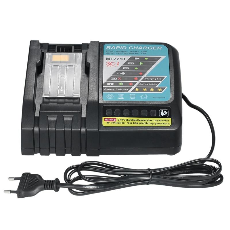AMS-Mt7218 cargador de batería de repuesto 6.5A para Makita Dc18Rc Dc18Ra Bl1830 Bl1815 Bl1840 Bl1850 14,4 V-18V Li-Ion Bat