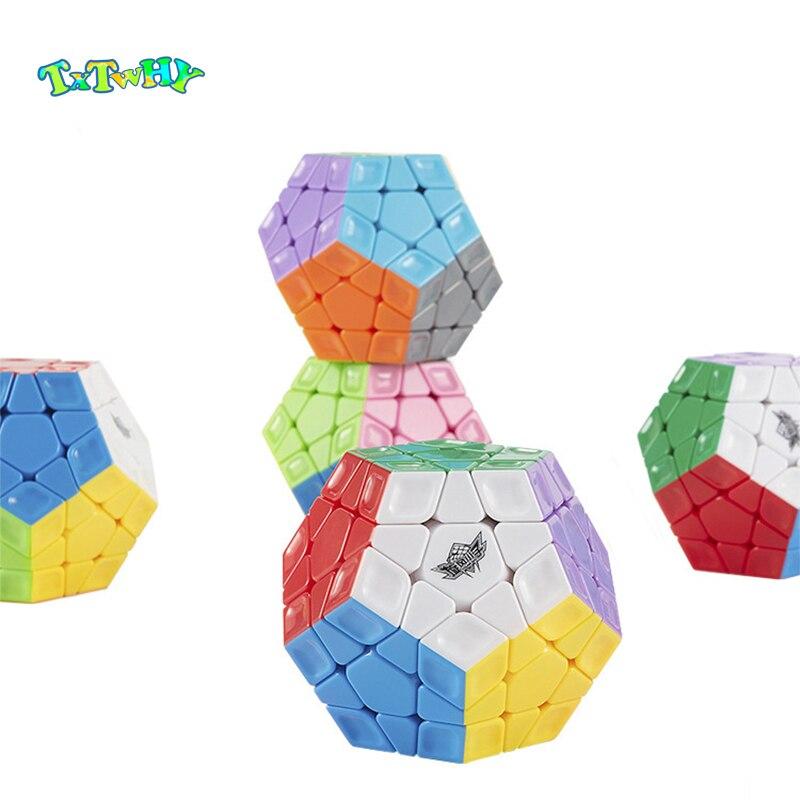 Nuevo cubo magico dodecaedro Arco Iris 3x3 cubo mágico sin etiqueta velocidad profesional 12 lados juguetes educativos para niños