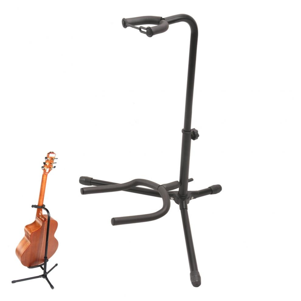 Aluminum Alloy Floor Guitar Stand with Stable Tripod Holder for Acoustic Electric Guitar Bass Guitar Stand
