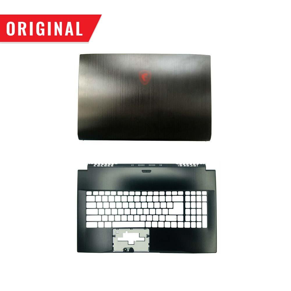 جديد الأصلي ل MSI GF75 MS-17F3 MS-17F1 LCD الغطاء الخلفي العلوي العلوي حالة Palmrest 3077F3C211 3077F1A223 الأسود