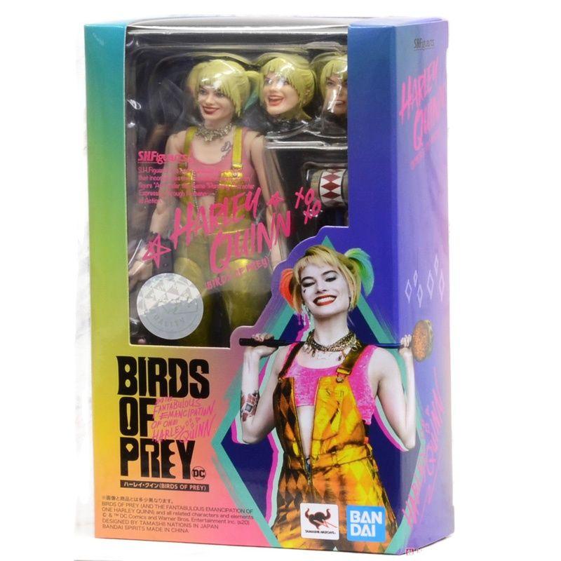 بانداي الأصلي S.H.Figuarts الطيور من فريسة هارلي كوين الانتحار فرقة عمل مجموعة لعبة مجسمة أنيمي لعب للأطفال