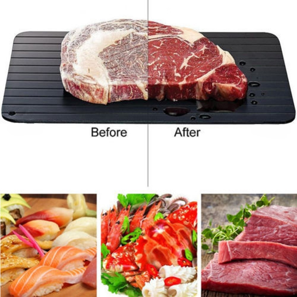 Fast Defrosting Tray Thaw Frozen Food Meat Fruit Quick Plate Board Defrost Kitchen Gadget Tool