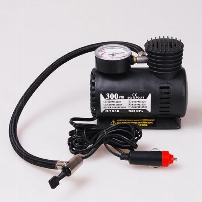 Acessórios do carro 12v 300psi portátil mini compressor de ar elétrico para carro pneu inflator bomba de carro para bola bicicleta