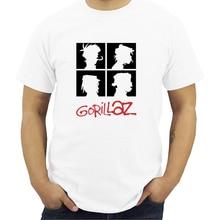 Summer Brand Music Band Gorillaz T-shirt Modal Tops Tees Men Short Sleeve Boy Casual Homme T Shirt Fashion Streetwear S-5XL