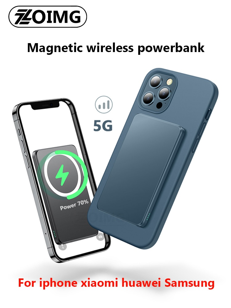 15W Magnetic Wireless Power Bank For iphone 12Pro Max magsafe mini powerbank Charger For xiaomi Sams
