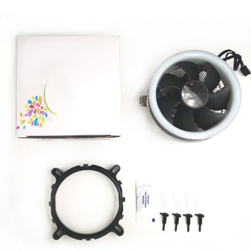 Ventilador de Refrigeração Dissipador de Calor Refrigerador de ar para Computador Cooler Silencioso Baixo-perfil Anel Radiador H-melhor Cpu Led