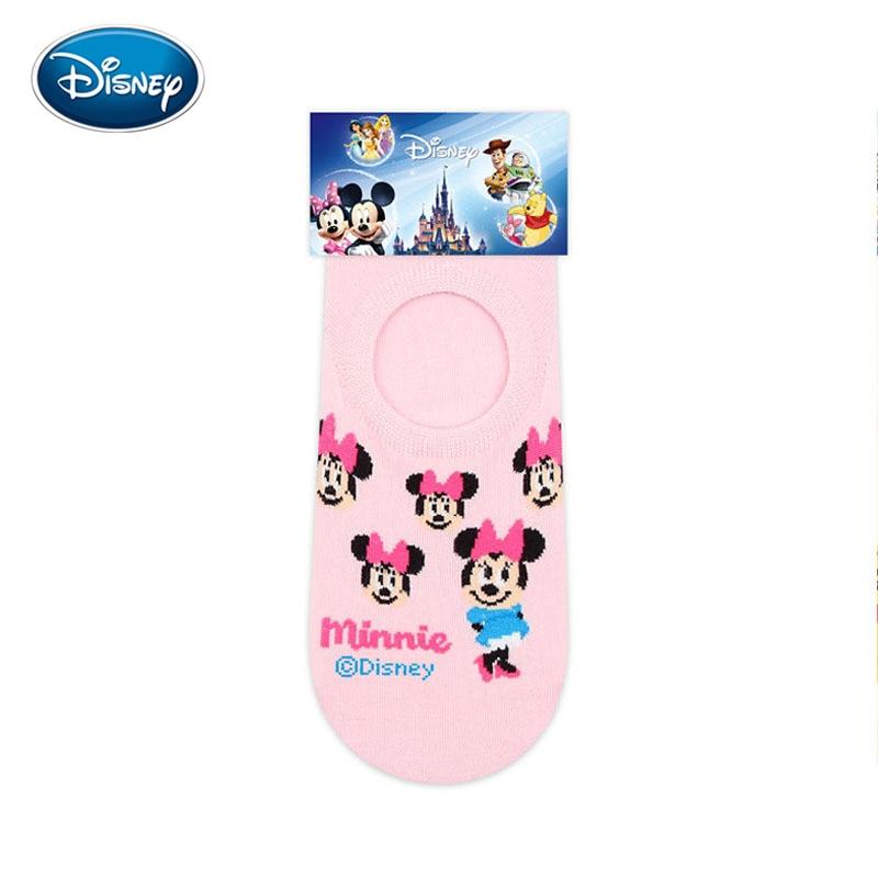 Disney Sock New Female Socks Cartoon Cute Duck Minnie Mickey Silicone Invisible Socks Cotton Socks