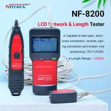NF_8200 LCD LAN Tester Netzwerk telefonkabel tester RJ45 Kabel Tester Ethernet Kabel Tracker NOYAFA NF-8200