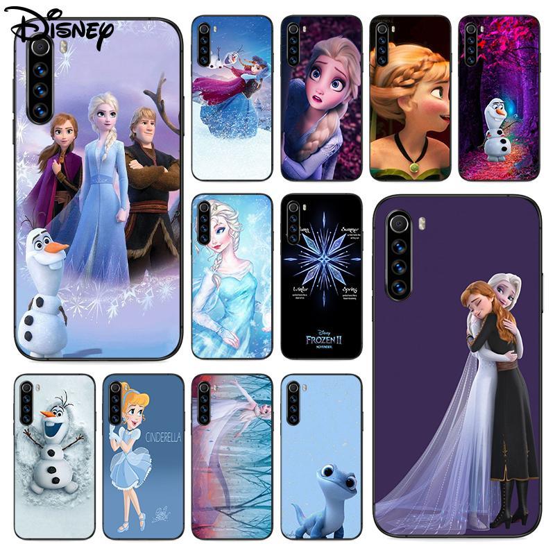 Disney Frozen Phone Case For Xiaomi Mi Note 10 A3 9 MAX 3 A2 8 9 Lite Pro Ultra black Etui 3D Waterp