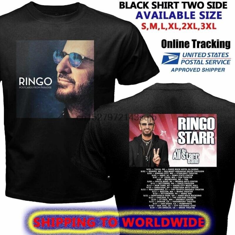 Caliente raro Ringo Starr paraíso Tour 2018 camiseta S-5XL