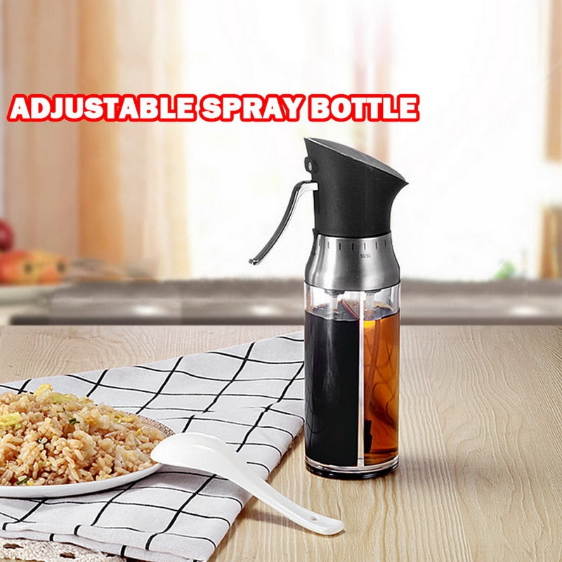 Stainless Steel Oil Sprayer Gravy Boats Spray Pot Vinegar Bottles Sauce Kitchen Cooking Tools Roast Bake Dispense Tool 200ml