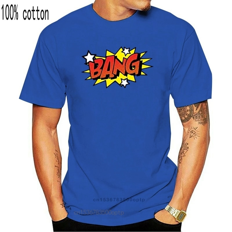 New 2021 Arrival Comic Style Bang Retro Nerd Hero Smack Geek Gaming T-Shirt Humor Unisex Streetwear