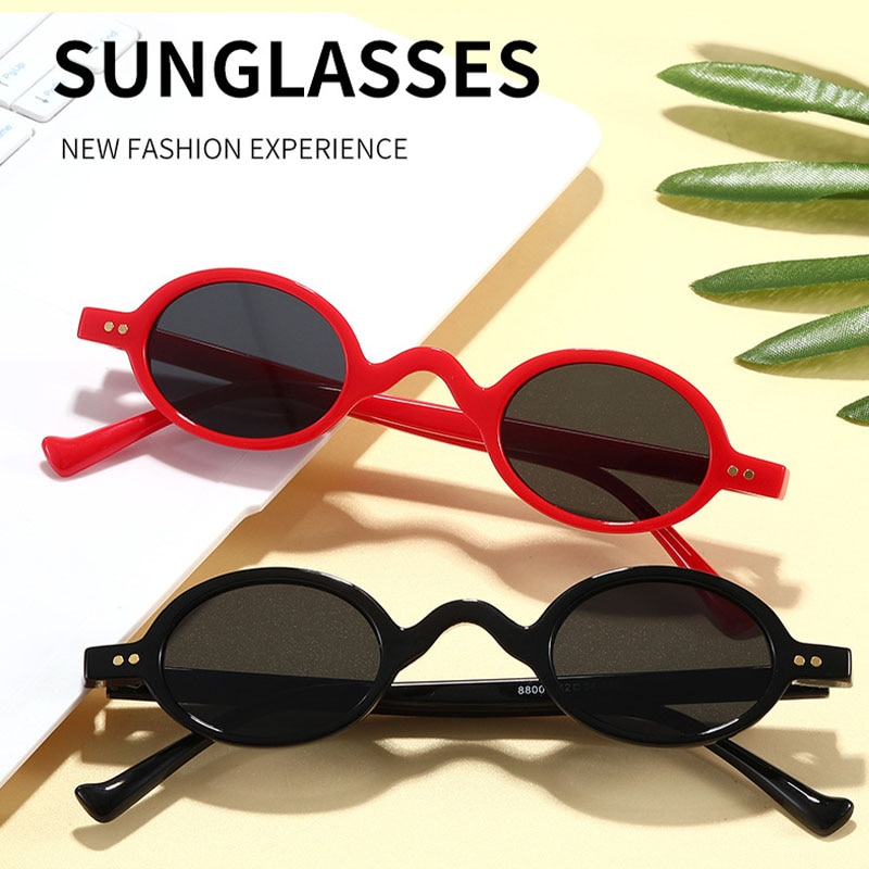 Модные маленькие круглые солнцезащитные очки для женщин и мужчин, классические винтажные темные очки в стиле стимпанк с гвоздиками, с защит...