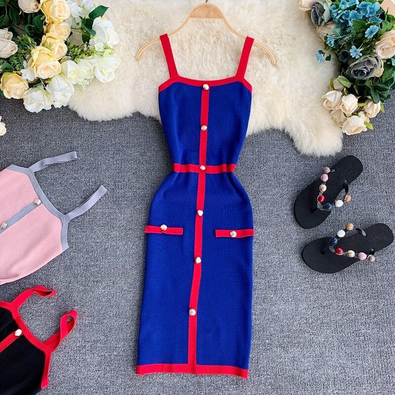 Gagarich Sexy rayado Bodycon Bandage Vestido sin mangas elegante Vestido 2019 Retro Sexy vestidos de fiesta