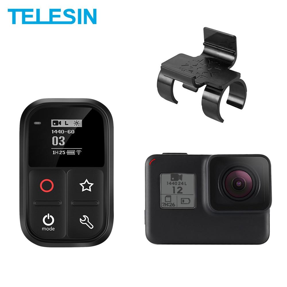 TELESIN-mando a distancia para GoPro Max Hero 8, 7, 6, 5, 4, Sesin, 80 متر, Wifi, كتيمة, lumoso, OLED