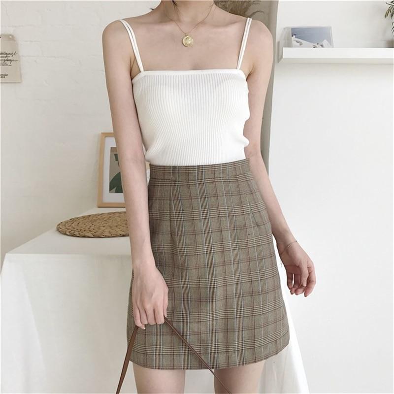 H6f2a43bcf72546c29f9a691cb6958439T - Summer Korean Sleeveless Basic Solid Camisole