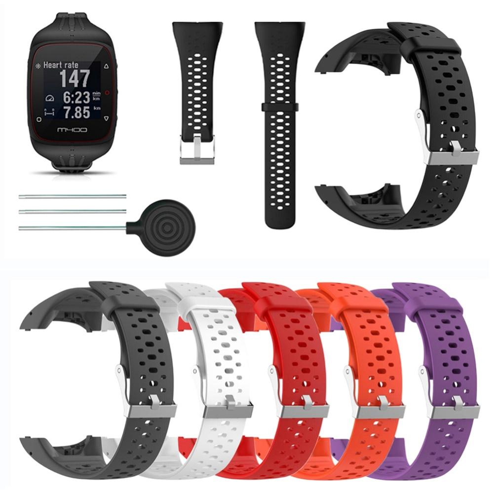 Replacement Silicone Watchband Wrist Strap for Polar M430 M400 Running Watch smart watch bracelet  Sport Silicone Bracelet high quality comfortable silicone replacement wrist watch band for polar v800 smart bracelet with tool smart watch strap