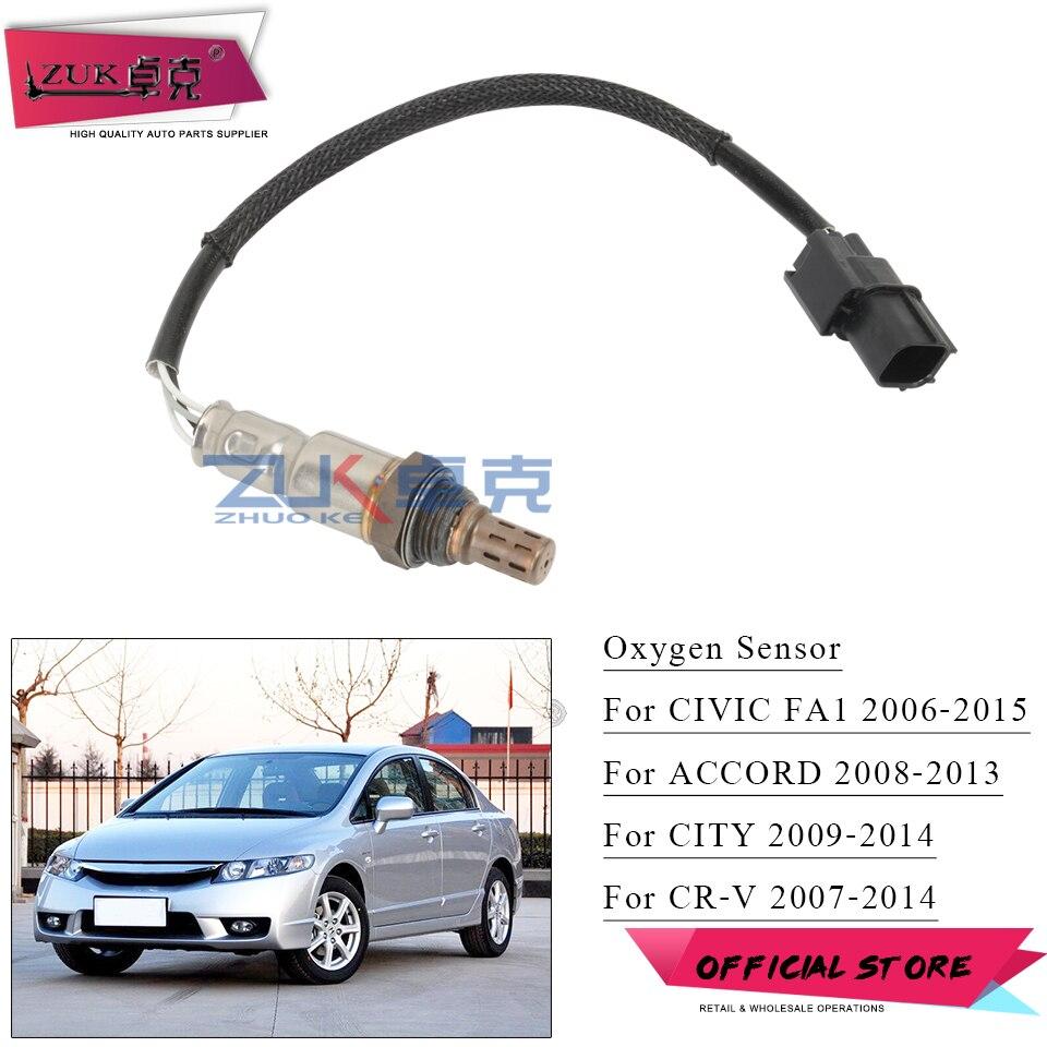 Zuk sensor de oxigênio traseiro o2 lambda sensor para honda para accord 2008-2013 para cidade 2009-2014 civic 2006-2015 2014 para crv 07-14