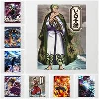 WTQ     affiche retro dracula Mihawk  peinture sur toile  Anime  decor mural  tableau dart mural pour decoration de salon  decoration de maison