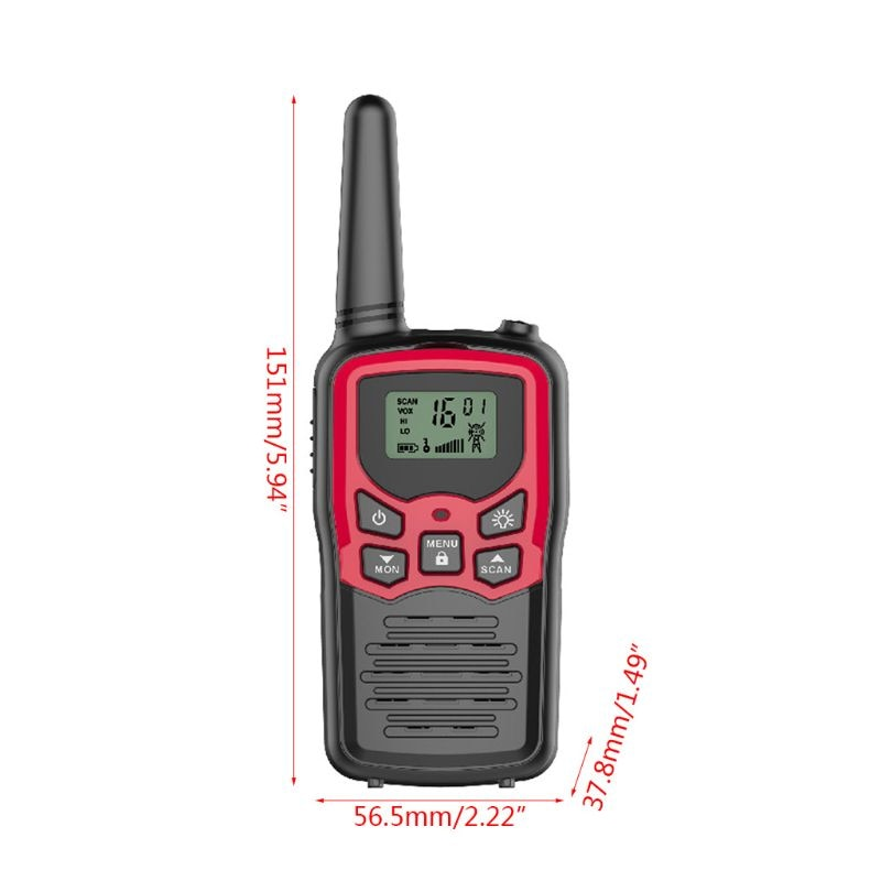 Range in Open Field 22 Channel FRS/GMRS Walkie Talkies UHWalkie Talkies for Adults Long Range 4 Pack 2-Way Radios Up to 5 Miles