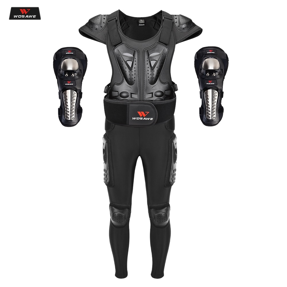 WOSAWE Motorcycle Armor Jacket Motocross Body Protection Riding Moto Downhill Protective Guard Armor Chest Back Protector wosawe motorcycle jacket full body armor back chest protector motocross racing clothing riding protective gear moto protection