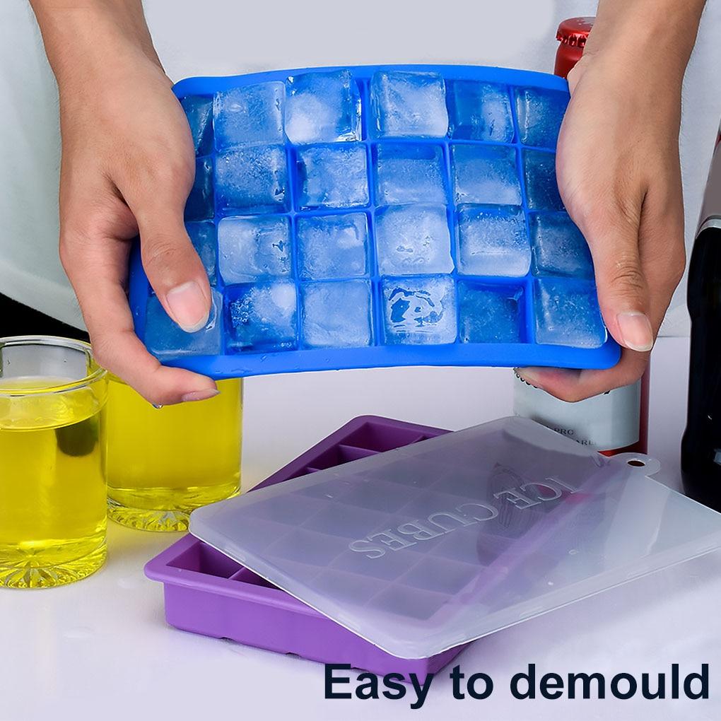 Bandeja de hielo de silicona de grado alimenticio para el hogar... molde...