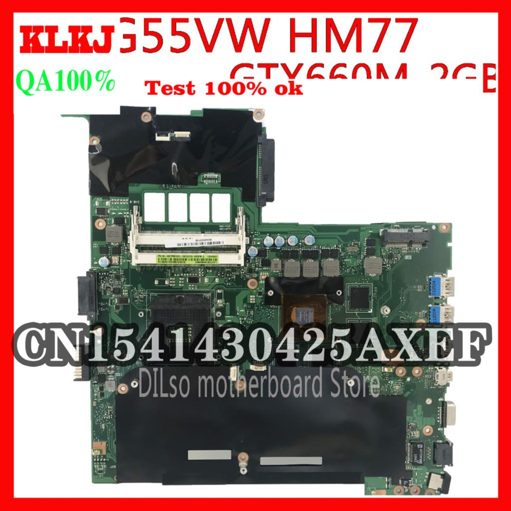 KLKJ G55VW ل ASUS G55 G55VW اللوحة الرئيسية N13E-GE-A2 GTX660M/2 جيجابايت REV اللوحة الأم اختبار متكامل