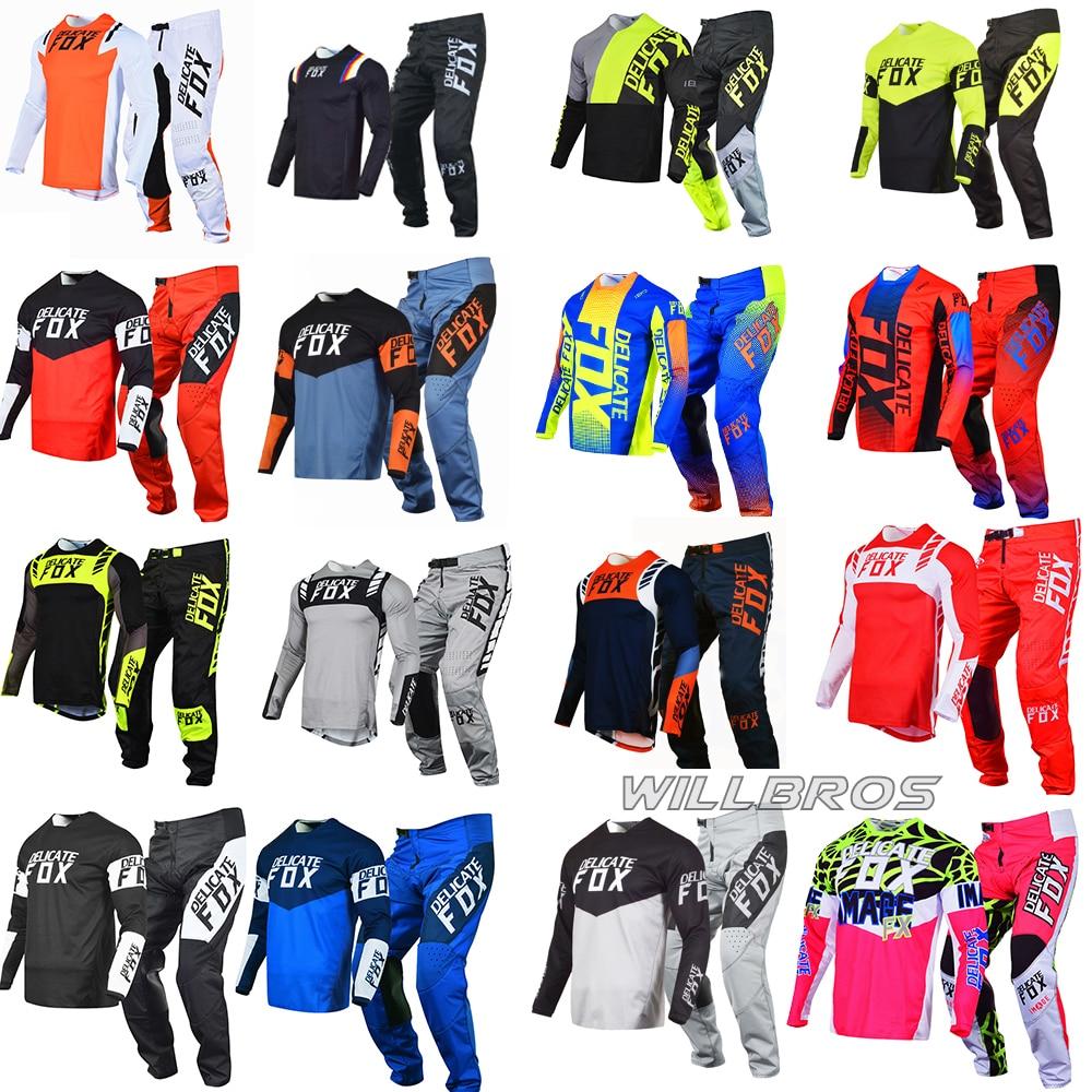 Motocross Racing Delicate Fox 180 360 Gear Set Flexair Mach Jersey Pants Mountain Bicycle Offroad Mens Kits Motorbike Suit
