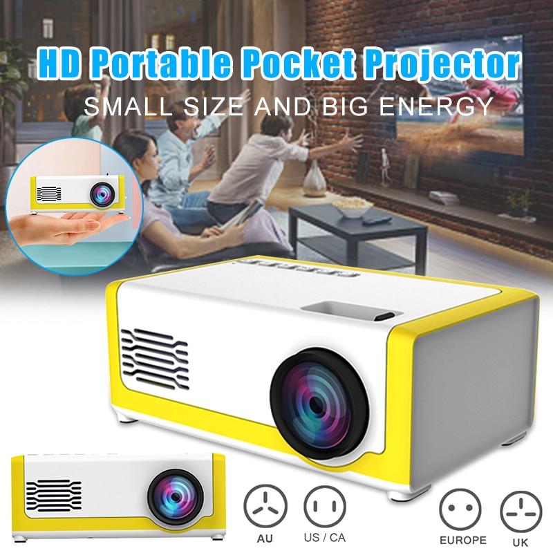 مصغرة جهاز عرض (بروجكتور) ليد عالية الوضوح LCD المحمولة الهاتف المحمول المنزل العارض FKU66