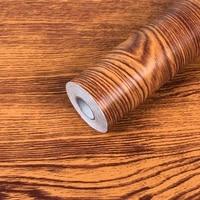 thick waterproof wooden vinyl wallpapers self adhesive contact paper door cabinet desktop modern furniture decoration sticker