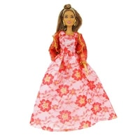 chinese new year red dress outfit suit sets for barbie bjd fr sd doll clothes role play accessories toys for girl