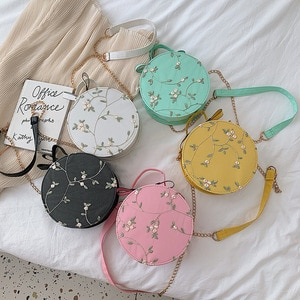 Women's Bag 2020 Lace Style Small round Bag New Korean Style Portable and Fashion Sweet and Simple All-Match Shoulder Messenger