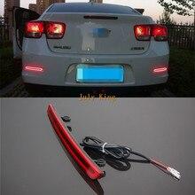 Varthion lumière LED Guide feux de freinage étui pour Chevrolet Malibu 2012 ~ 15, clignotant de frein feux davertissement, trois fonctions