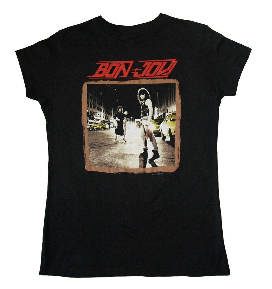 Camiseta Bon Jovi - Run Away - Juniors camiseta Top S-M-L-Xl-2Xl camiseta nueva de marca Harajuku camiseta de Hip Hop