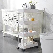 4 couches support de fente mobile salle de bains étagère de rangement cuisine armoire étroite salon Gap-étagère meubles de maison roues mobiles étagère