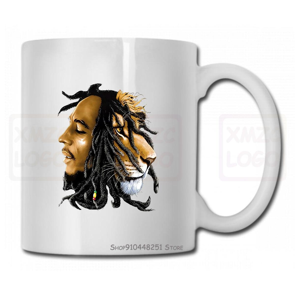 Bob Marley регги, музыкальная кружка, чашка льва, футболка для мужчин и женщин, мужчин и женщин