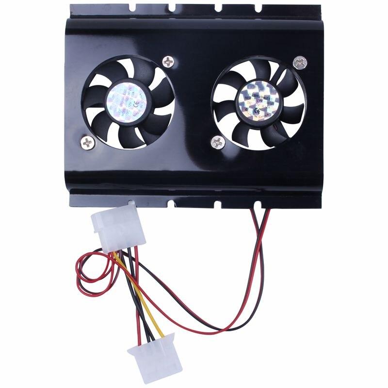Черный 3,5 SATA IDE жесткий диск HDD 2 вентилятора охлаждения для ПК