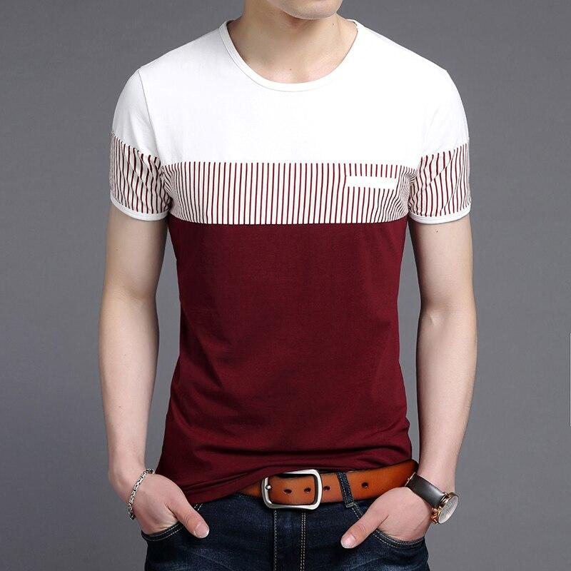 Новинка 2020, модные брендовые футболки, мужские корейские летние топы с круглым вырезом, уличные стильные тренды, высококачественные футбол...