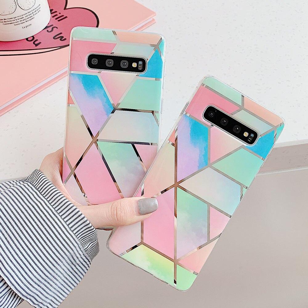 Радужный чехол для телефона Samsung Galaxy Note 8 9 10 Pro S9 S8 S10 S20 Plus S10 Lite A40 A50 A70 A51 A71, чехол, мягкая задняя крышка