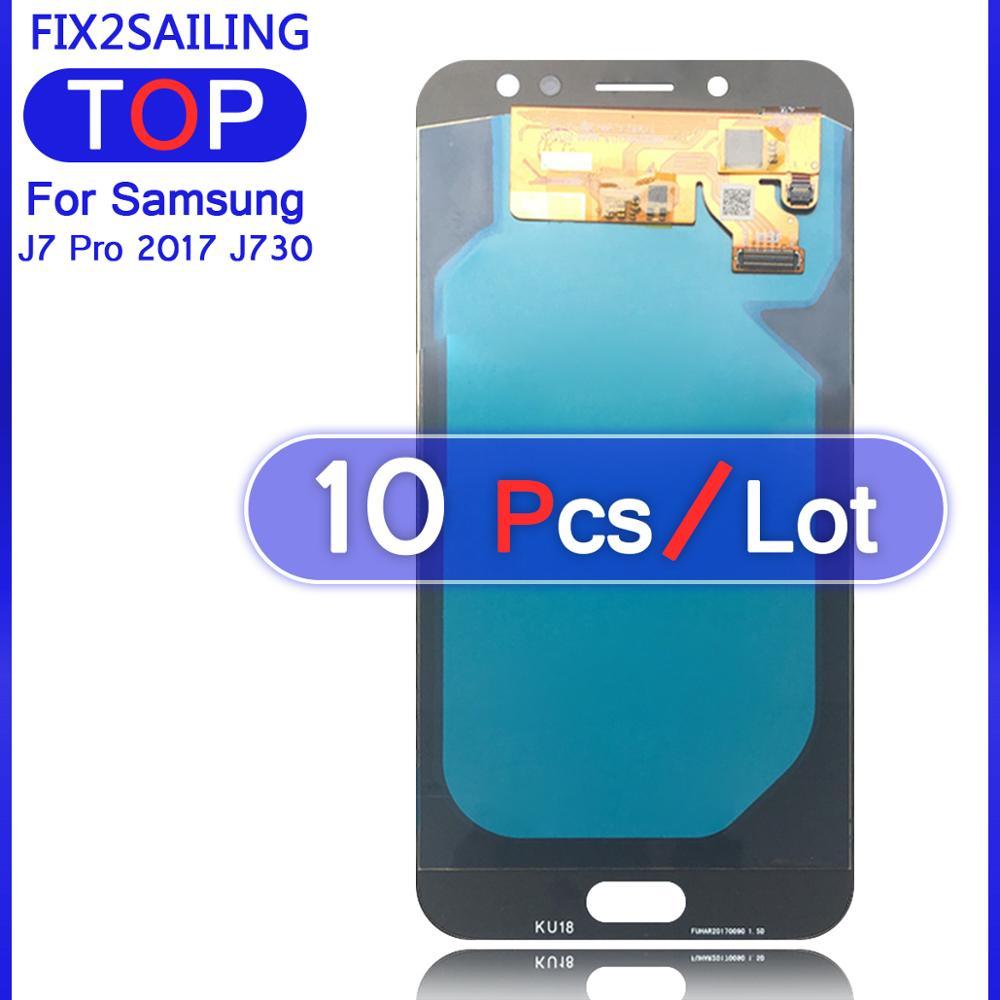 Écran LCD Super AMOLED 100%   Assemblage décran tactile, pour Samsung Galaxy J7 Pro 2017 J730 J730F, testé, nouveau affichage