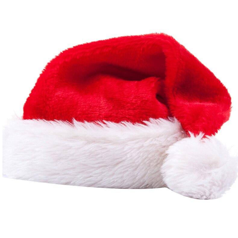 3 pçs papai noel chapéu chapéu de natal natal dia roupas vestir-se pelúcia grosso chapéu de natal adulto