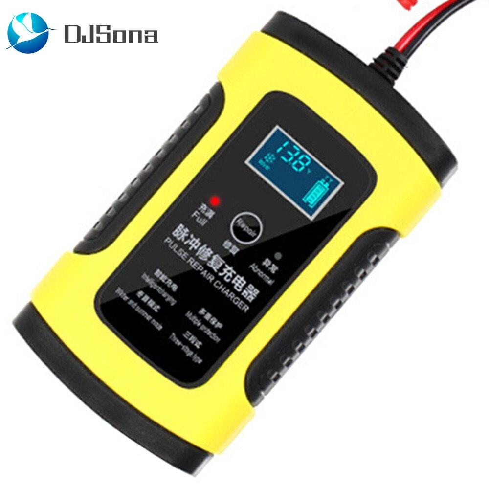DJSona 12 V 6A LCD Smart Schnelles Auto Batterie Ladegerät für Auto Motorrad Blei-Säure AGM GEL Batterien Intelligente lade 12 V Volt