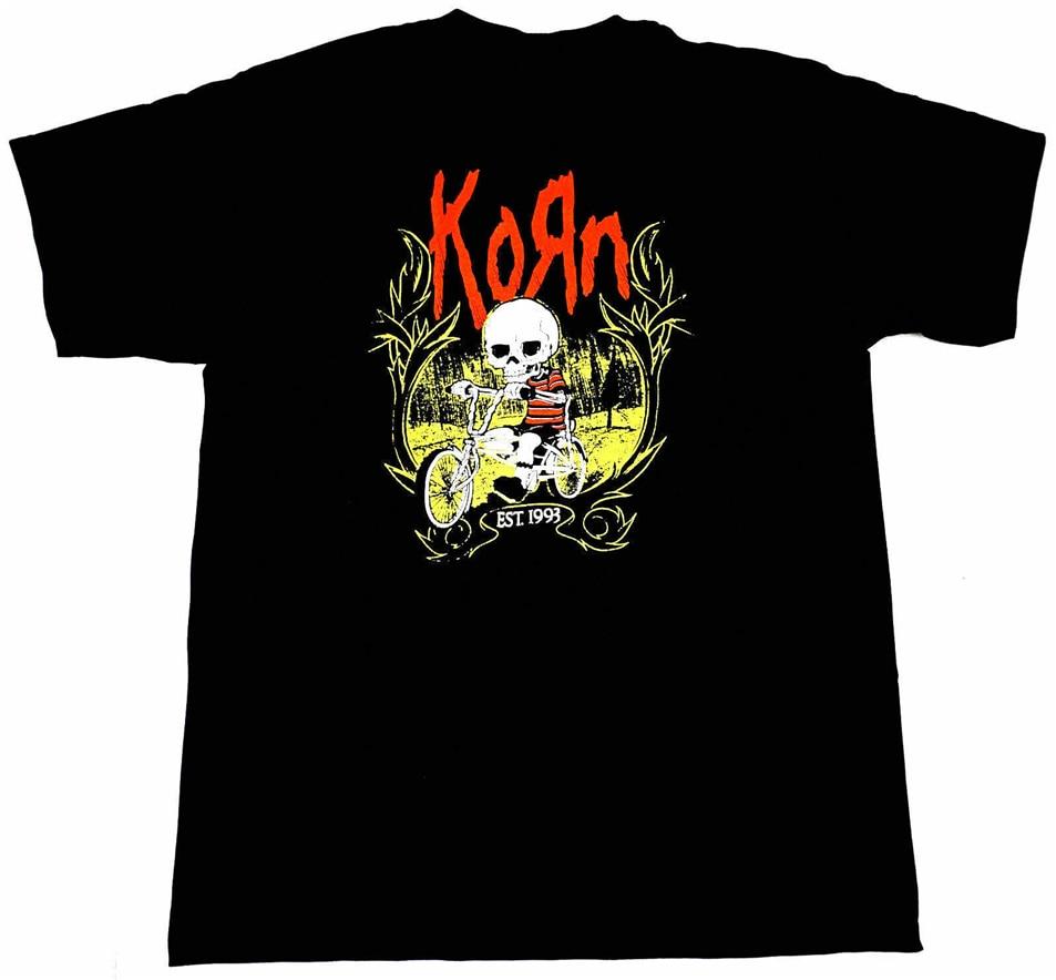 Korn T-Shirt Nu Metal Alternative Rock- New Condition T Shirt Not Vintage Free Shipping Light Tee Shirt