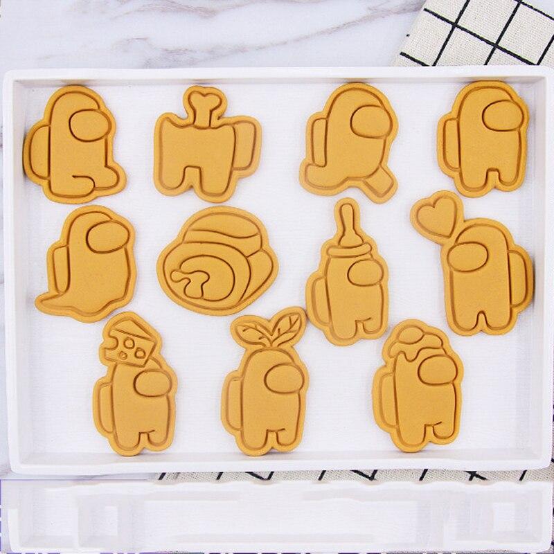 أداة ختم الكعك العفن 11 قطعة/المجموعة أنيمي لعبة البسكويت القاطع كوكي قوالب Sugarcraft كعكة فندان تزيين أدوات الخبز العفن