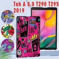case for samsung galaxy tab a 8 0 2019 t290 t295 printed pc plastic protective back tablet shell cover free stylus