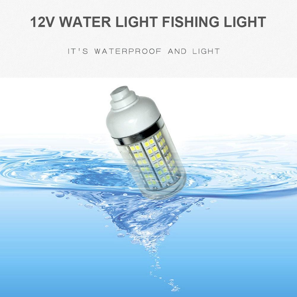 lampada de led subaquatica 12v a prova dagua submersivel noturna para barco de pesca